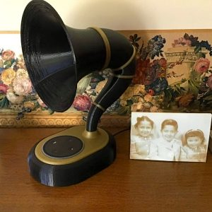 3D printed Amazon Echo 2nd gen. gramophone